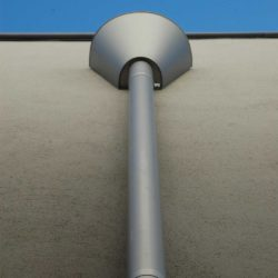 Zinc rainwater head and downpipe