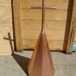 Copper church spire