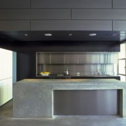 Zinc internal cladding - kitchen