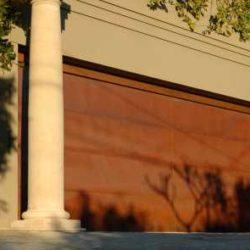 Copper garage door residential