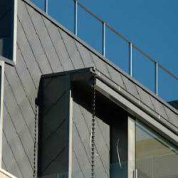Zinc residential - Flat lock seam panel