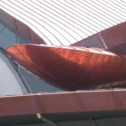 Copper rainwater system - Hamilton Island Yacht Club