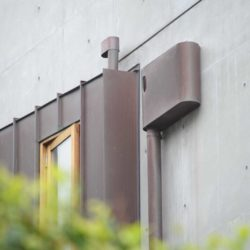 Copper rainwater system
