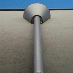 Zinc rainwater head and downpipe