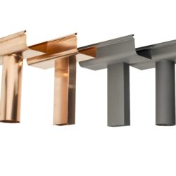 Copper and zinc rainwater fittings
