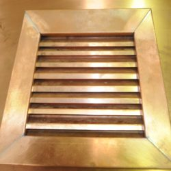 Copper grille