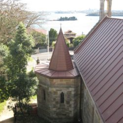 Copper heritage church roof and spire