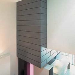 Zinc interior cladding - Interlocking panel